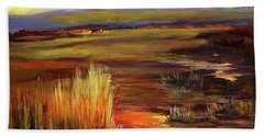 Wetlands Sunset Iv Beach Towel