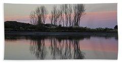 Whakatane River At Sunset Beach Towel by Venetia Featherstone-Witty