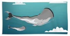 Whale 7 Beach Towel