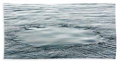 Whale Footprint Left After Surfacing Beach Towel