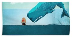 Whale Beach Towel by Mark Ashkenazi