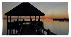 Beach Towel featuring the photograph Whalehead Sunset Obx by Greg Reed