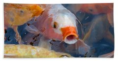 What A Crowd Beach Towel by Laurel Powell