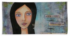 Beach Towel featuring the painting What Is A Friend # 2 by Nicole Nadeau