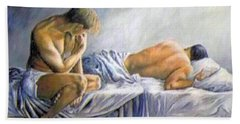 What Is He Dreaming Beach Towel