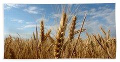 Wheat Field In A Sunny Summer Day Beach Sheet