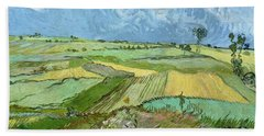 Wheat Fields After The Rain Beach Towel