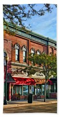 Wheaton Front Street Stores Beach Towel by Christopher Arndt