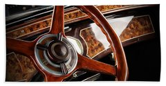 Old Cars Beach Towel featuring the photograph Wheel To The Past by Aaron Berg