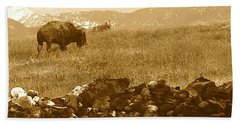 When The Buffalo Roamed II Beach Towel