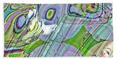 Beach Towel featuring the digital art When Worlds Collide by Richard Thomas