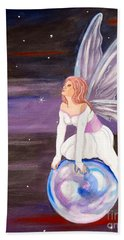 Beach Sheet featuring the painting When You Dream by Phyllis Kaltenbach