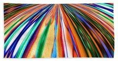 Where It All Began Abstract Beach Towel by Alec Drake