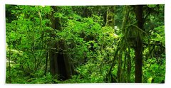 Where The Forest People Live Revised Beach Towel