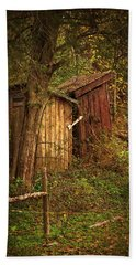 Which Way To The Outhouse? Beach Towel by Priscilla Burgers