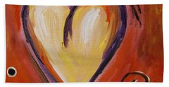 Whimsical  Abstract Art - With All My Heart Beach Sheet