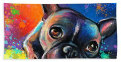 French Bulldog Beach Towels