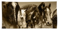 Whimsical Stallions Beach Towel