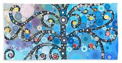 Whimsical Tree Beach Towel by Linda Bailey