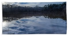 Whipped Cream Reflection Beach Towel by Donna Brown