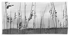 Whispering Sea Oats Bw Beach Towel