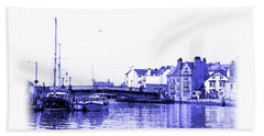 Beach Towel featuring the photograph Whitby Harbor by Jane McIlroy
