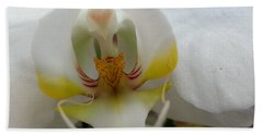 White And Yellow Orchid Beach Sheet