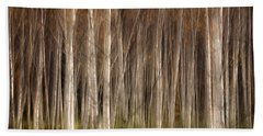 White Birch Abstract Beach Sheet by John Vose