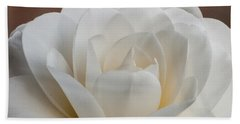 White Camellia Beach Sheet