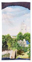White Castle In Tallinn Estonia Beach Towel