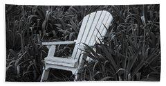 White Chair Beach Towel