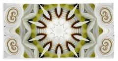 White Daisies Kaleidoscope Beach Towel by Rose Santuci-Sofranko