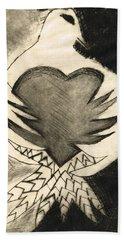 White Dove Art - Comfort - By Sharon Cummings Beach Towel
