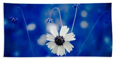 White Flower Beach Towel