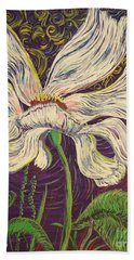 White Flower Series 6 Beach Towel