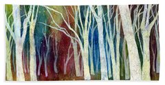 White Forest I Beach Towel