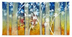 White Forest II Beach Towel