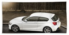 White Hatchback Car Beach Sheet