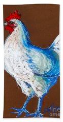 White Hen Beach Towel by Mona Edulesco
