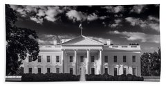 White House Sunrise B W Beach Sheet by Steve Gadomski