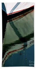 White Hull On The Water Beach Towel