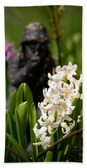 White Hyacinth In The Garden Beach Sheet