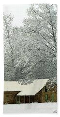 White Lace Beach Towel