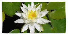 White Lotus 1 Beach Towel