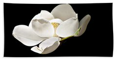 White Magnolia  Beach Towel by Debra Forand