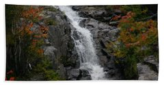 Beach Towel featuring the photograph White Mountain Water Fall  by Denyse Duhaime