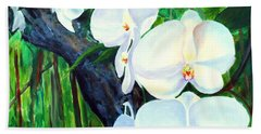 White Orchid's Beach Towel