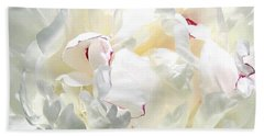 White Peony Beach Towel by Will Borden