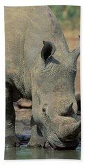 White Rhino Beach Towel