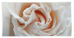 Beach Towel featuring the photograph White Rose by Tiffany Erdman